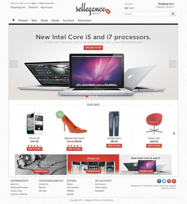 Sellegance - Responsive and Clean OpenCart Theme - BuyDesign